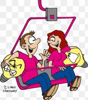 Cartoon Male - Cartoon Drawing Ski Lift Clip Art PNG