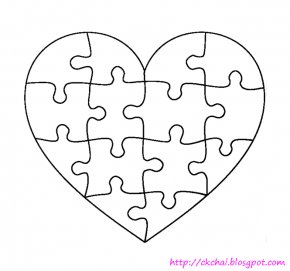 Puzzle Template - Jigsaw Puzzle Template Coloring Book Clip Art PNG