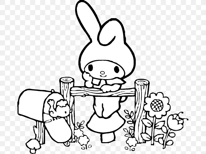My Melody Coloring Book Drawing Hello Kitty Character Png 681x611px Watercolor Cartoon Flower Frame Heart Download