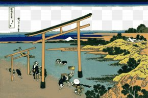 Vector Door - Thirty-six Views Of Mount Fuji Fine Wind, Clear Morning The Great Wave Off Kanagawa Ukiyo-e PNG