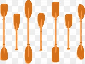 Red Paddle - Watercraft Paddle Wooden Spoon PNG