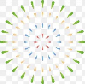 Symmetry Green - Green Circle Line Symmetry PNG