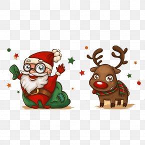 Hand Painted Santa Claus Material - Santa Claus Christmas Card Drawing PNG