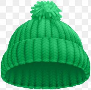 Green Winter Hat Clip Art Image - Hat Knit Cap Clip Art PNG