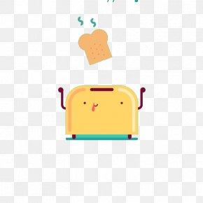 Cartoon Roast Toaster - Toast Cartoon Breakfast Bread Roasting PNG