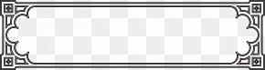 Classic Black Frame Pattern - Black Computer File PNG