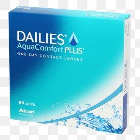 Aqua - Dailies AquaComfort Plus Toric Contact Lenses Toric Lens PNG