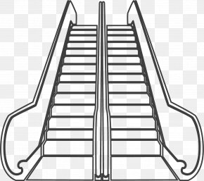 Up And Down The Escalator - Escalator Stairs Elevator Icon PNG