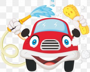 Cartoon Car - Car Wash Cartoon PNG