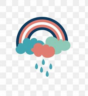 Storm Rainbow Cartoon Creative - Rainbow Color Clip Art PNG