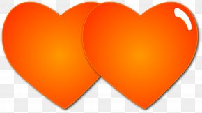 Love Heart - Love Heart Orange PNG