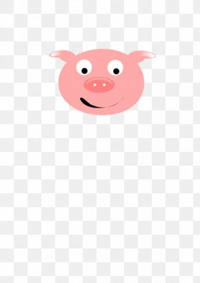 Flying Pig Clipart - Domestic Pig Character Snout Clip Art PNG