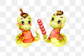 Candied Fruit Holding Snake - Snake Chinese Zodiac Photography PNG