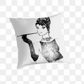 Audrey Hepburn - Throw Pillows Cushion Textile Rectangle PNG