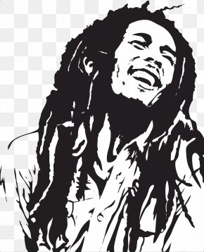 Bob Marley - Stencil Art Airbrush Painting Reggae PNG