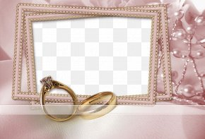 There Are Pearl Ring Wedding Photo Frame - Picture Frame Wedding Marriage Photography PNG
