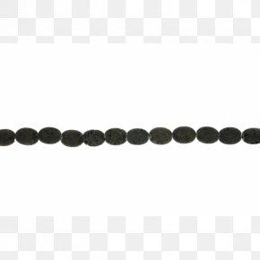 Black Beads - Bead Body Jewellery Chain Black M PNG
