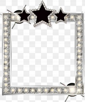 Silver Shine Border Texture - Picture Frame Film Frame Photography Illustration PNG