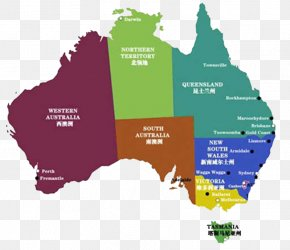 Colorful Map Of Australia - Australia Map Information PNG