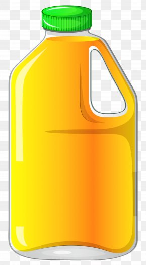 Large Bottle With Orange Juice Clipart - Orange Juice Apple Juice Clip Art PNG