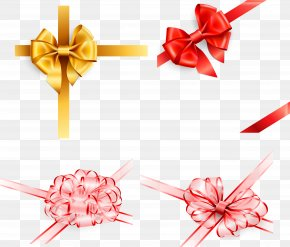 Delicate Ribbon Bow Vector - Ribbon Shoelace Knot Gift PNG