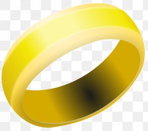 Small Band Cliparts - Wedding Ring Gold Jewellery Clip Art PNG