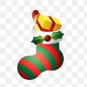 Vector Christmas Socks - Christmas Gift PNG