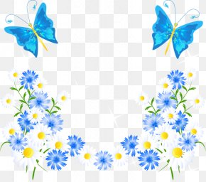 Blue Butterfly And Flowers - Samsung Galaxy Note 8 Samsung Galaxy A5 (2017) Samsung Galaxy S8 Samsung Galaxy S Plus Samsung Galaxy S7 PNG