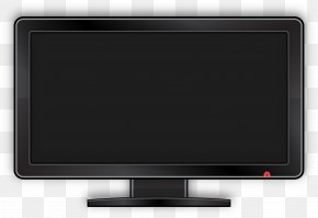 Vector Flat Computer Monitor - Television Set LED-backlit LCD Computer Monitor Output Device Liquid-crystal Display PNG
