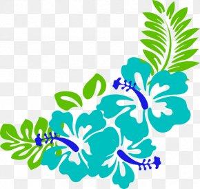 Beach Cliparts Borders - Hawaiian Hibiscus Clip Art PNG