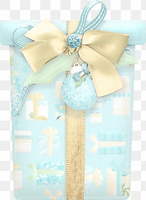 Party Favor Wedding Favors - Aqua Turquoise Blue Present Gift Wrapping PNG