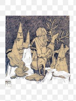 Hand Drawn Illustration Of Santa Claus - Santa Claus Christmas DeviantArt Drawing Illustration PNG