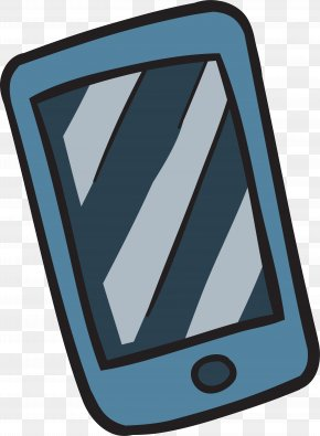 Cartoon Hand Drawing Mobile Phone - Tourism Drawing Telephony PNG