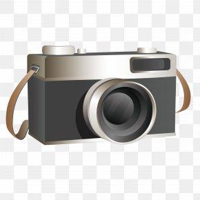 Beautifully Retro Camera - Digital Cameras Black And White PNG