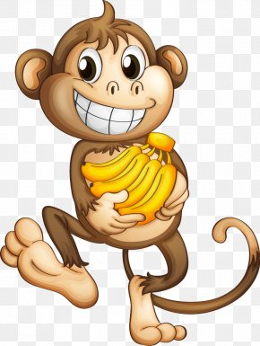 Cartoon Monkey - Monkey Clip Art Animated Cartoon Image PNG
