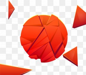 Vector Painted Orange Ball - Ball Orange PNG