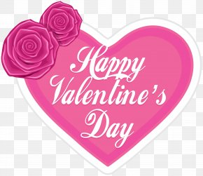 Happy Valentine's Day Pink Heart PNG Clip Art - Valentine's Day Heart Clip Art PNG