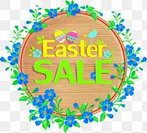 Flower Border - Easter Bunny Sales Illustration PNG