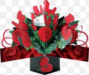 Valentine's Day - Garden Roses Valentine's Day Flower Bouquet Floral Design PNG