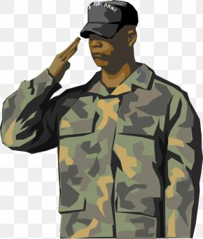 Soldier Saluting Cliparts - Soldier Salute Army Military Clip Art PNG