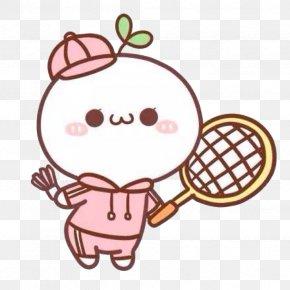 Play Badminton Long Grass Dough - Badminton Cartoon Sport PNG
