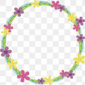 Small Fresh Floral Decorative Frame - Floral Design Picture Frame PNG