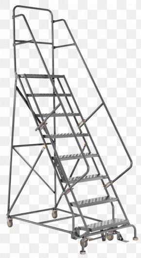 Ladders - Ladder Stairs Warehouse Rolling Handrail PNG