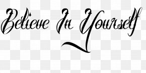 Yourself. - Tattoo Script Typeface Lettering Font PNG