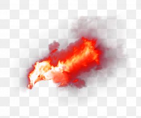 Red Fresh Flame Effect Element - Flame Fire Alpha Compositing PNG