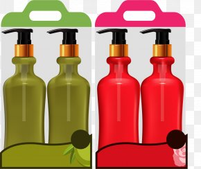 Vector Painted Shampoo Set - Shampoo Shower Gel PNG