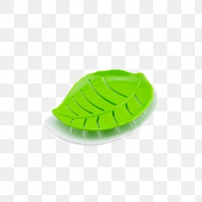 Green Leaf-shaped Double Draining Soap Dish - Soap Dish Green PNG