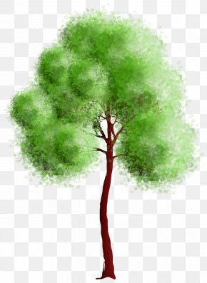 Trees - Watercolor Painting Impressionism Clip Art PNG