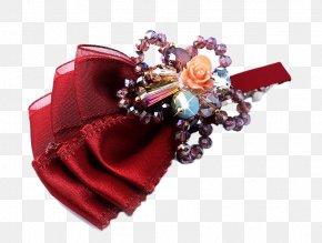 Retro Fashion Big Red Flower Hairpin Hair Accessories - Barrette Hair Red Fashion PNG