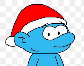 Smurfs Coloring Pages - Festive Santa Cap Santa Claus Christmas Day Clip Art Holiday PNG